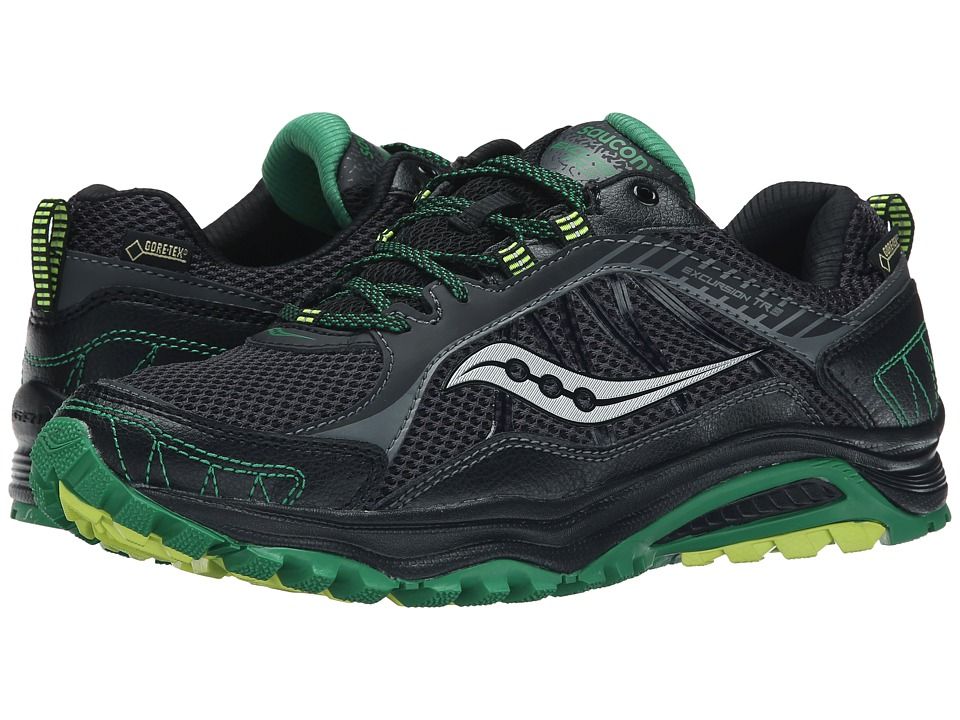 Saucony - Excursion TR9 GTX (Black/Green/Citron) Men's Running Shoes