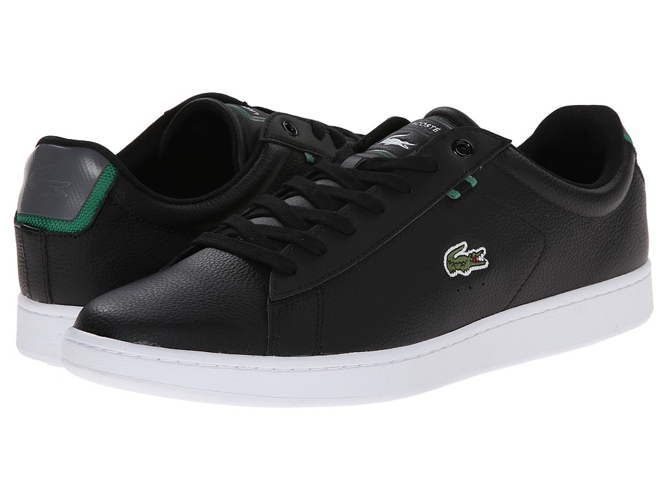 Lacoste - Carnaby Evo HTB (Black/Green) Men's Shoes