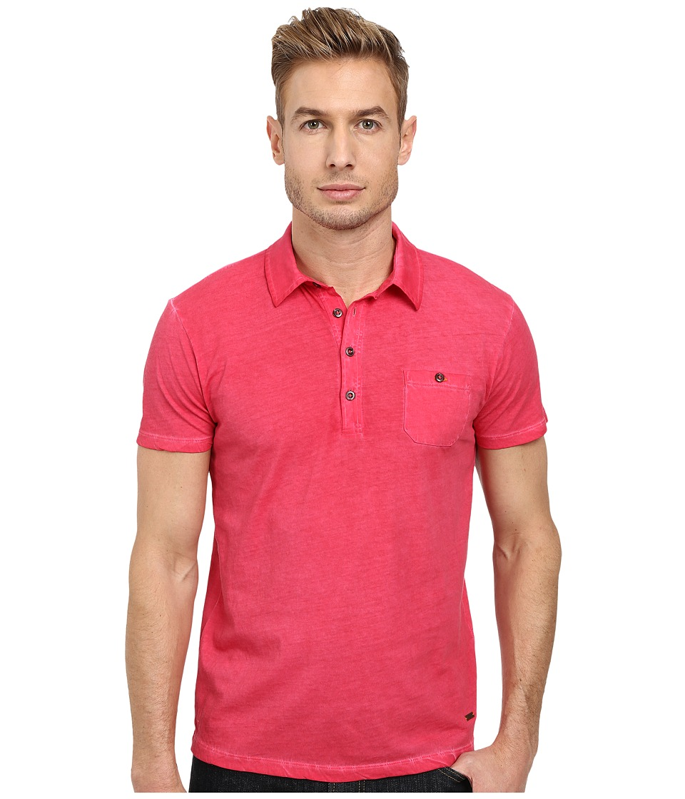 BOSS Orange - Perpignan 1 Fashion Fit Garment Dyed Jersey Polo (Medium Pink) Men's Short Sleeve Pullover