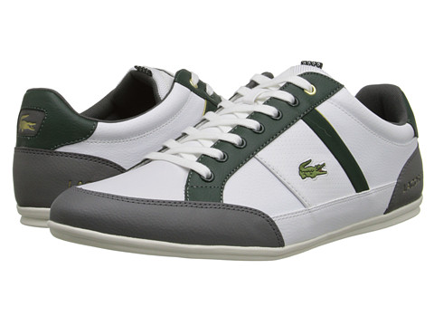 Lacoste - Chaymon TS2 (White/Dark Grey) Men's Shoes