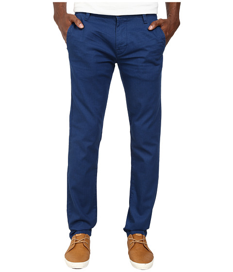 BOSS Orange - Sairy7-W Slim Fit Pigment Sprayed Broken Twill Pants (Medium Blue) Men