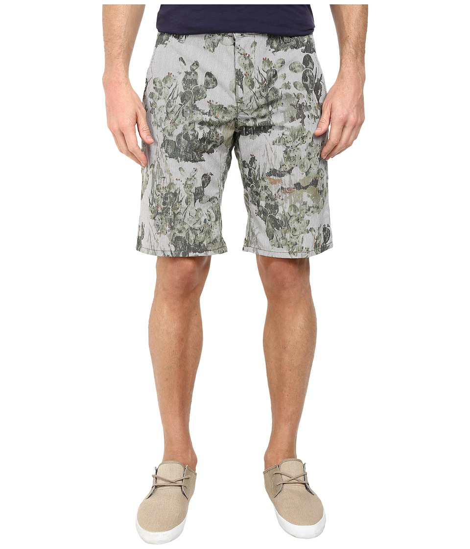 BOSS Orange - Sairy-Shorts-W Slim Fit Cactus Printed Summer Stripe Shorts (Medium Green) Men