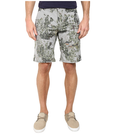 BOSS Orange - Sairy-Shorts-W Slim Fit Cactus Printed Summer Stripe Shorts (Medium Green) Men's Shorts