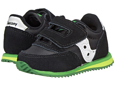 Saucony Kids - Baby Jazz Crib (Infant) (Black/Green) Boys Shoes