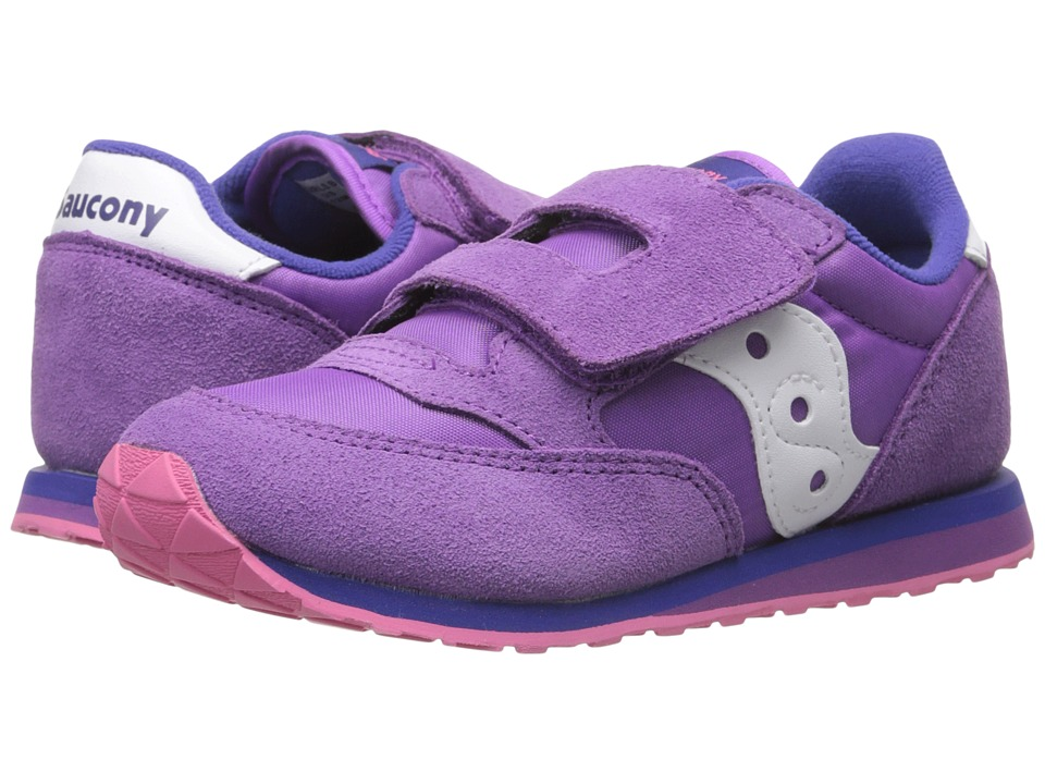 Saucony Kids - Baby Jazz HL (Toddler/Little Kid) (Purple/Pink) Girls Shoes
