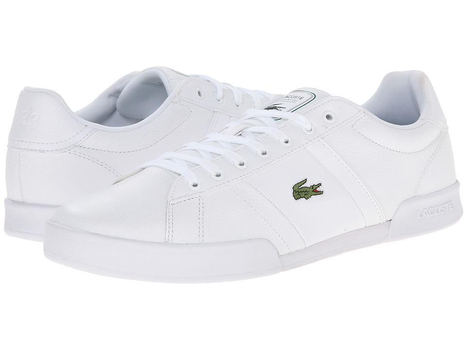 Lacoste - Deston HTB (White/White) Men's Shoes