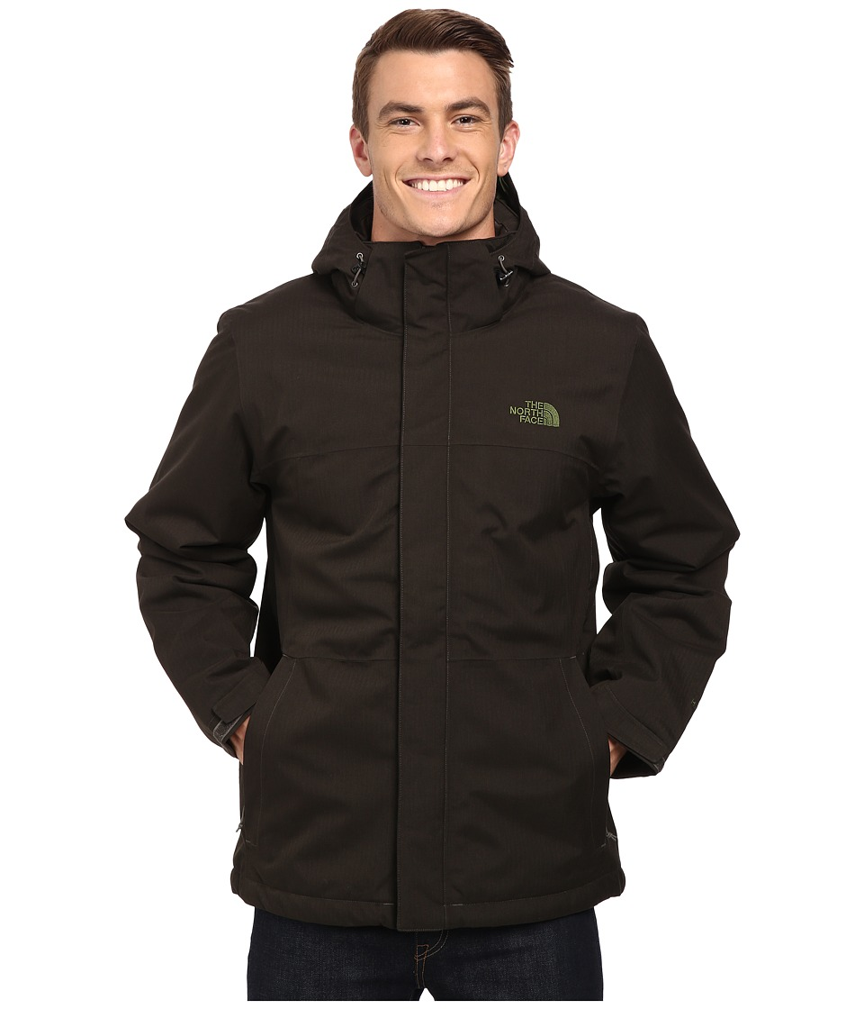The North Face - Inlux Insulated Jacket (Black Ink Green Heather) Men's Coat