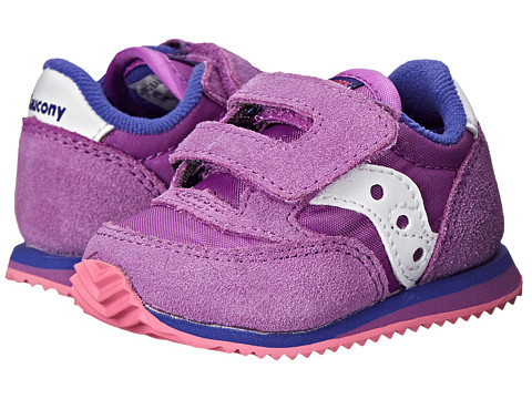 Saucony Kids - Baby Jazz Crib (Infant) (Purple/Pink) Girls Shoes