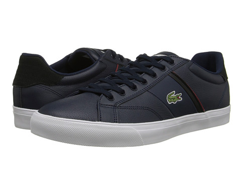 Lacoste - Fairlead URS (Dark Blue/Red) Men's Shoes