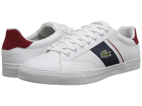 Lacoste - Fairlead URS (White/Dark Blue) Men's Shoes