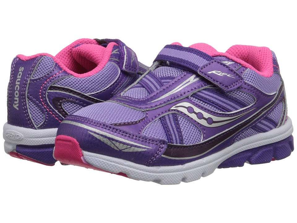 Saucony Kids - Ride (Toddler/Little Kid) (Purple) Girls Shoes