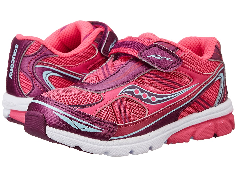 Saucony Kids - Ride (Toddler/Little Kid) (Pink/Purple) Girls Shoes