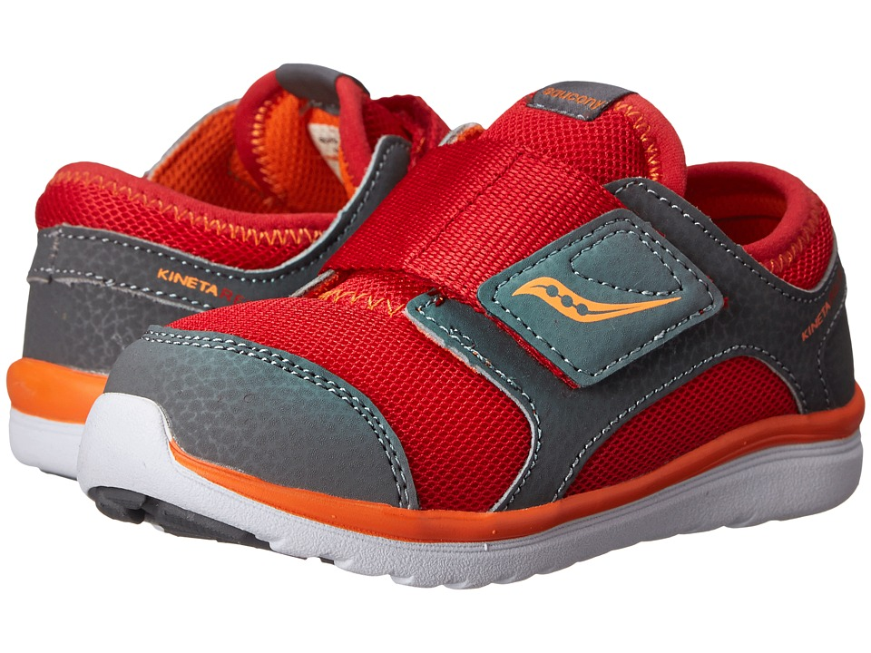 Saucony Kids - Kineta A/C (Toddler) (Red/Grey/Orange) Boys Shoes