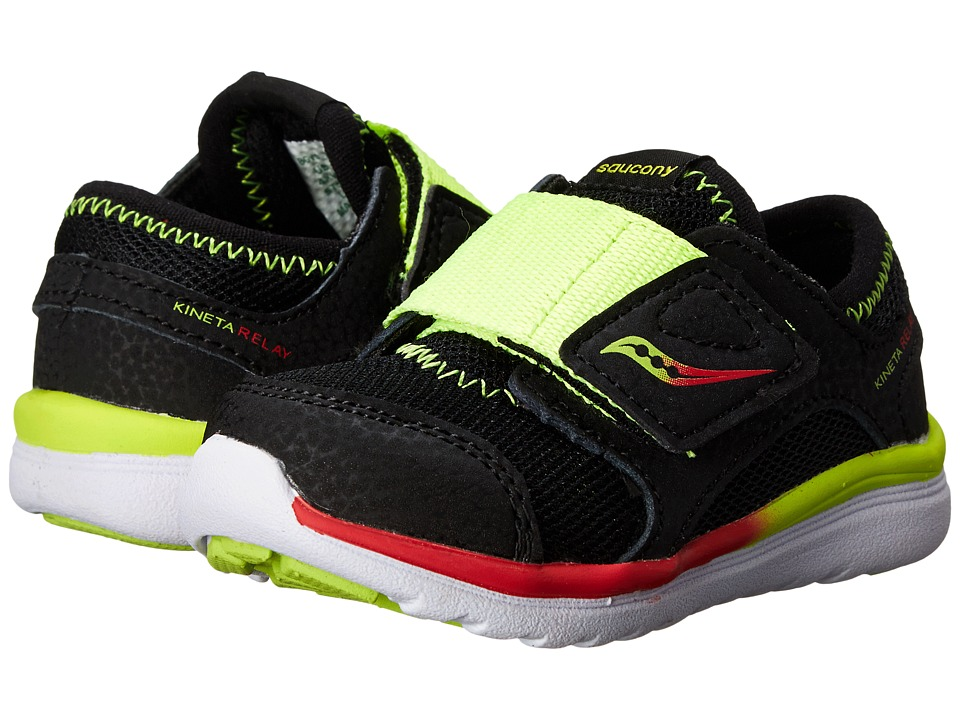 Saucony Kids - Kineta A/C (Toddler) (Black/Citron/Red) Boys Shoes