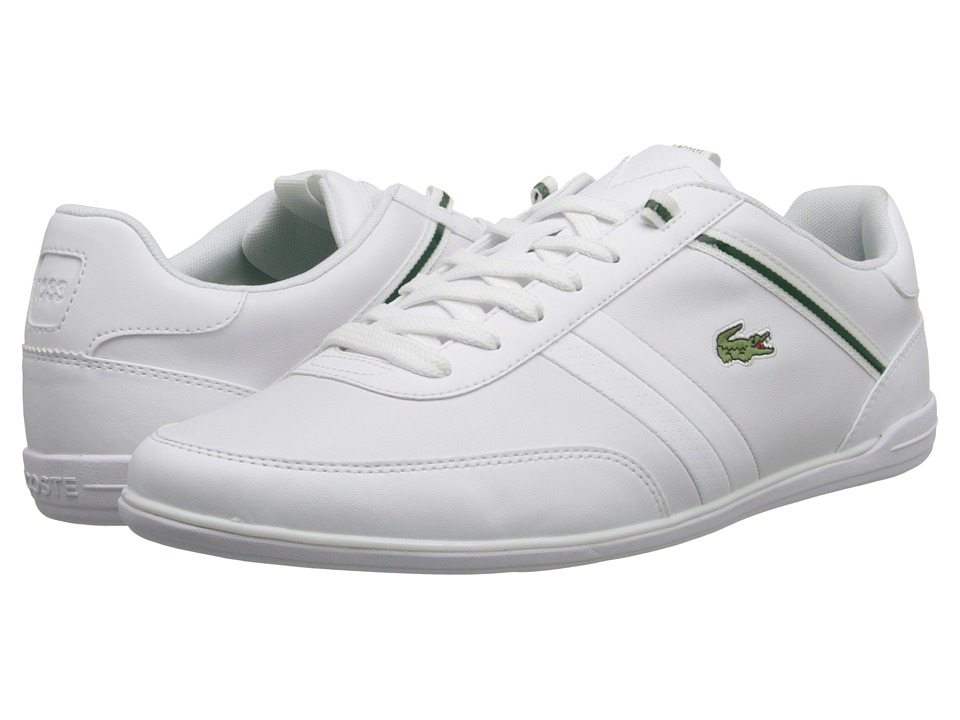 Lacoste - Giron HTB (White/Green) Men's Shoes