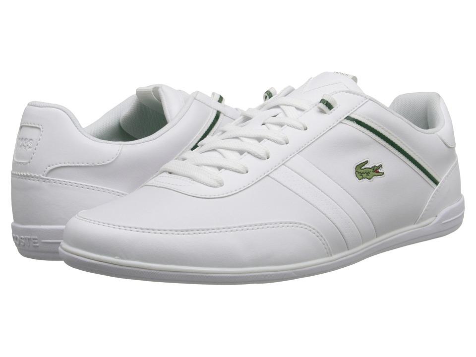 Lacoste - Giron HTB (White/Green) Men's Shoes