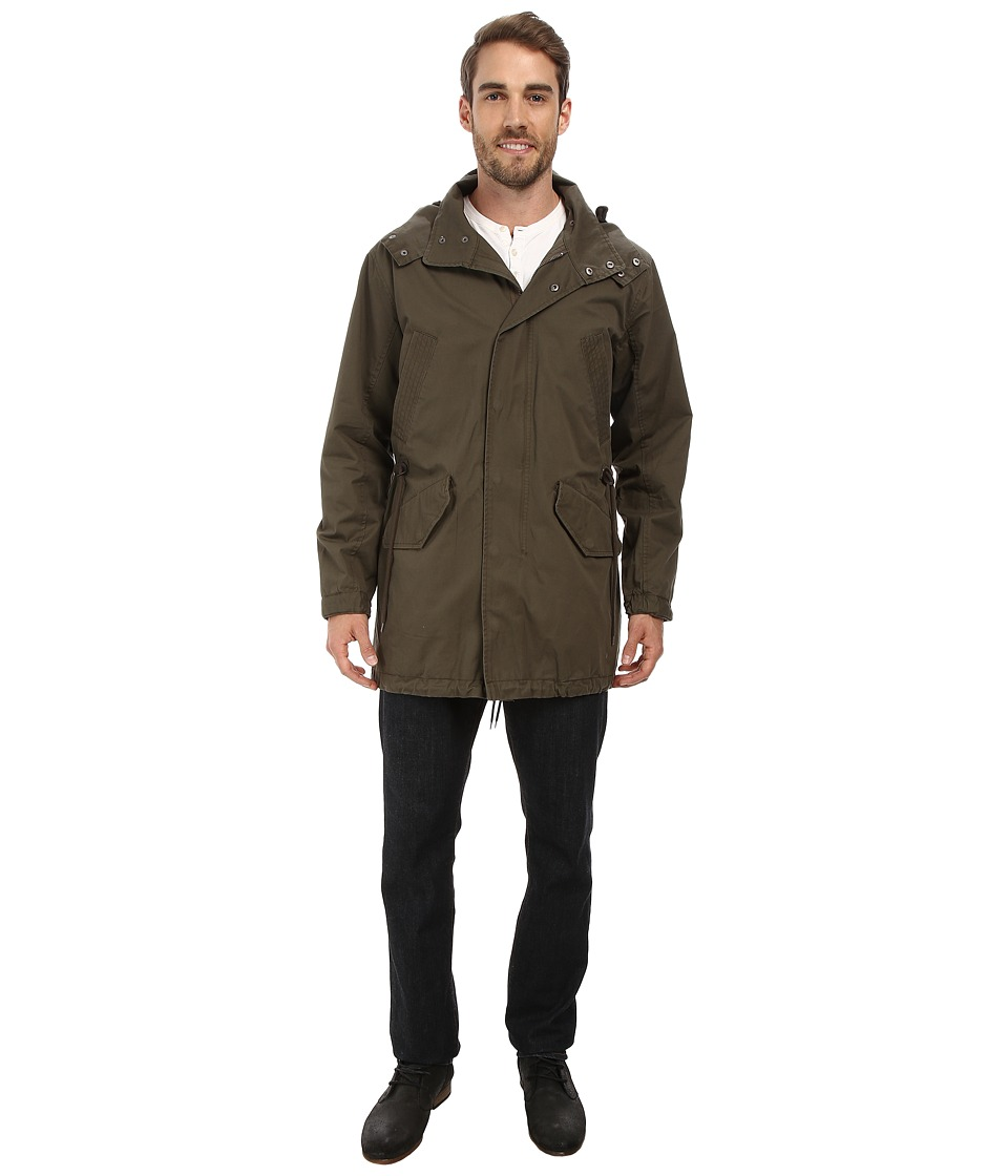 Cole Haan - Washed Cotton Military Anorak (Olive) Men's Coat