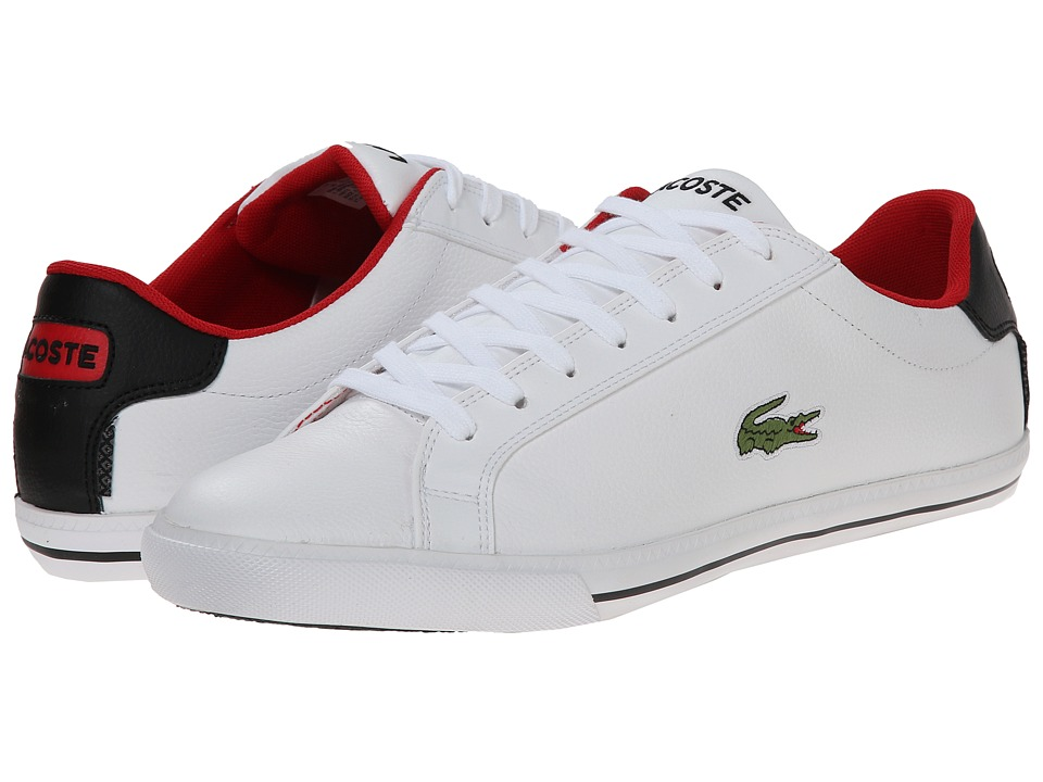 Lacoste - Grad Vulc TS (White/Black) Men's Shoes