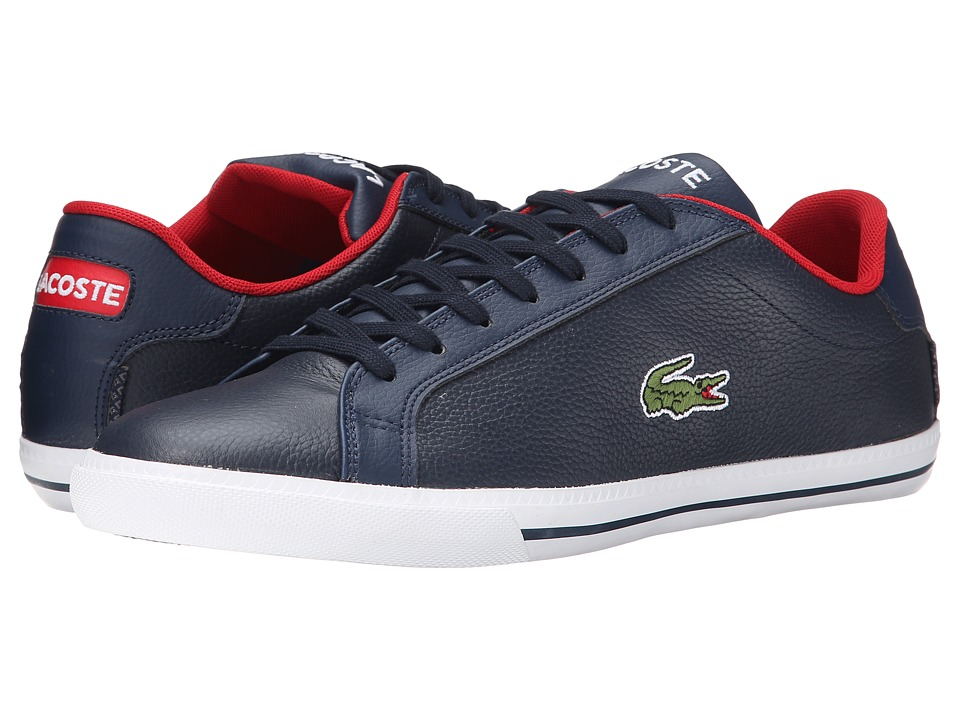 Lacoste - Grad Vulc TS (Dark Blue/Red) Men's Shoes
