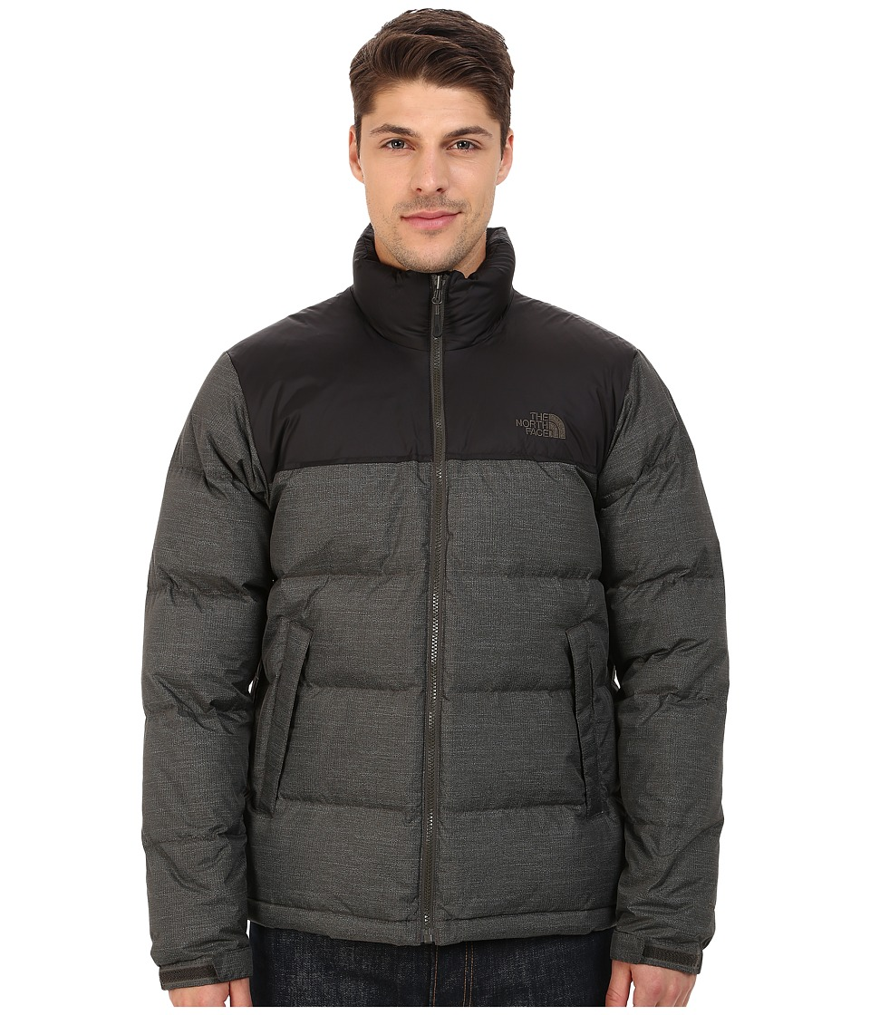 The North Face - Nuptse Jacket (Black Ink Green Quasar Print/TNF Black) Men's Coat