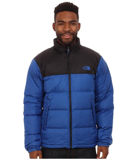 The North Face - Nuptse Jacket (Monster Blue/TNF Black) Men's Coat
