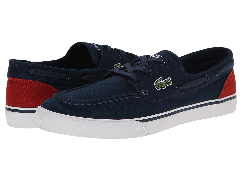 Lacoste - Keel WD (Dark Blue/Red) Men's Slip on Shoes