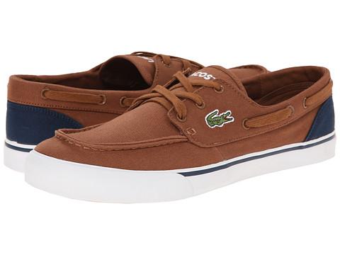 Lacoste - Keel WD (Tan/Dark Blue) Men's Slip on Shoes