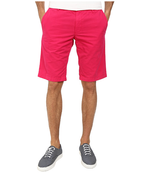 BOSS Orange - Schino-Shorts-D Regular Fit Overdyed Gabardine Shorts (Medium Pink) Men's Shorts