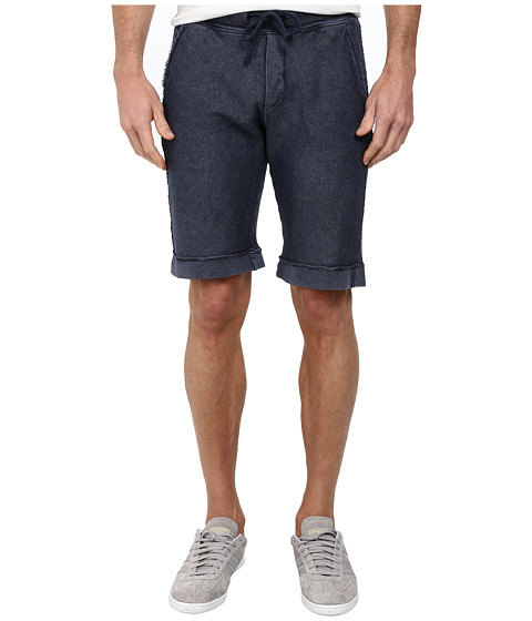 BOSS Orange - Seaside-H Slim Fit Treated Twill Structure Fade Out Treatment Shorts (Dark Blue) Men