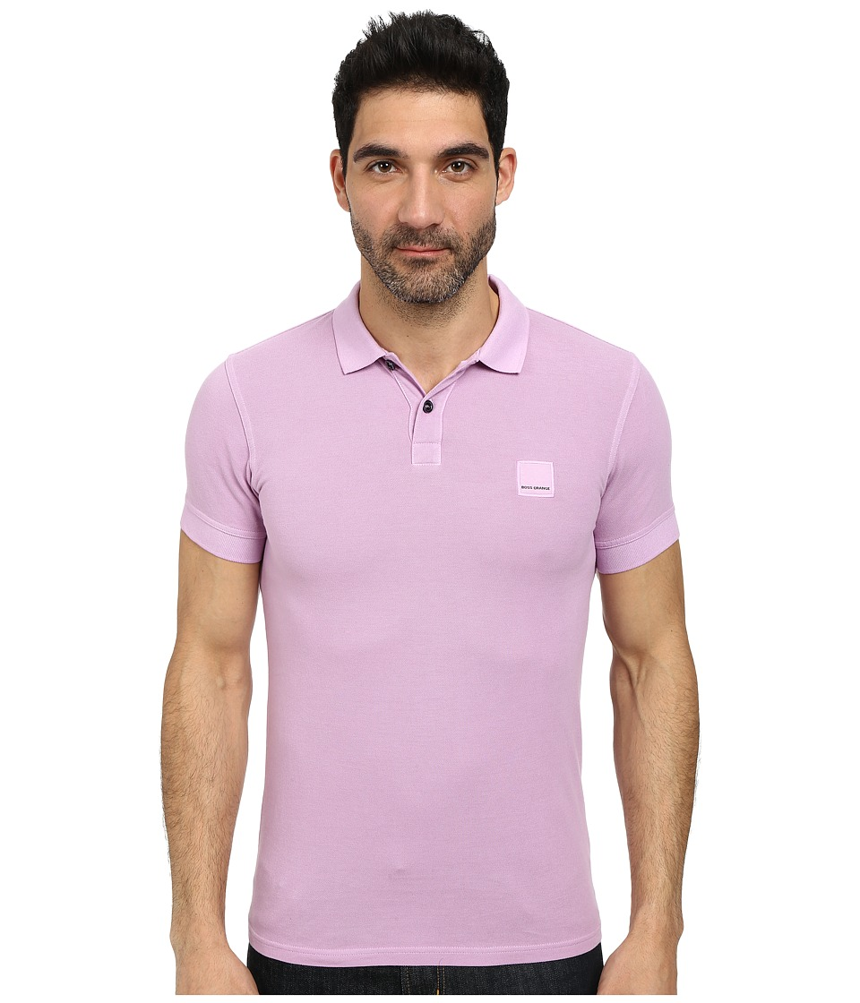BOSS Orange - Pascha Slim Fit Saltwash Piquet Polo (Bright Purple) Men