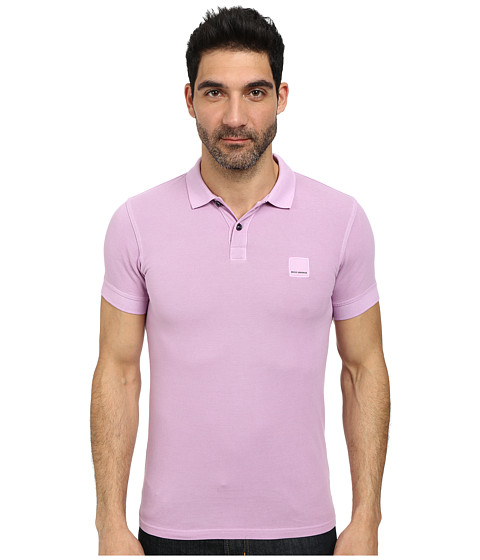 BOSS Orange - Pascha Slim Fit Saltwash Piquet Polo (Bright Purple) Men's Short Sleeve Pullover