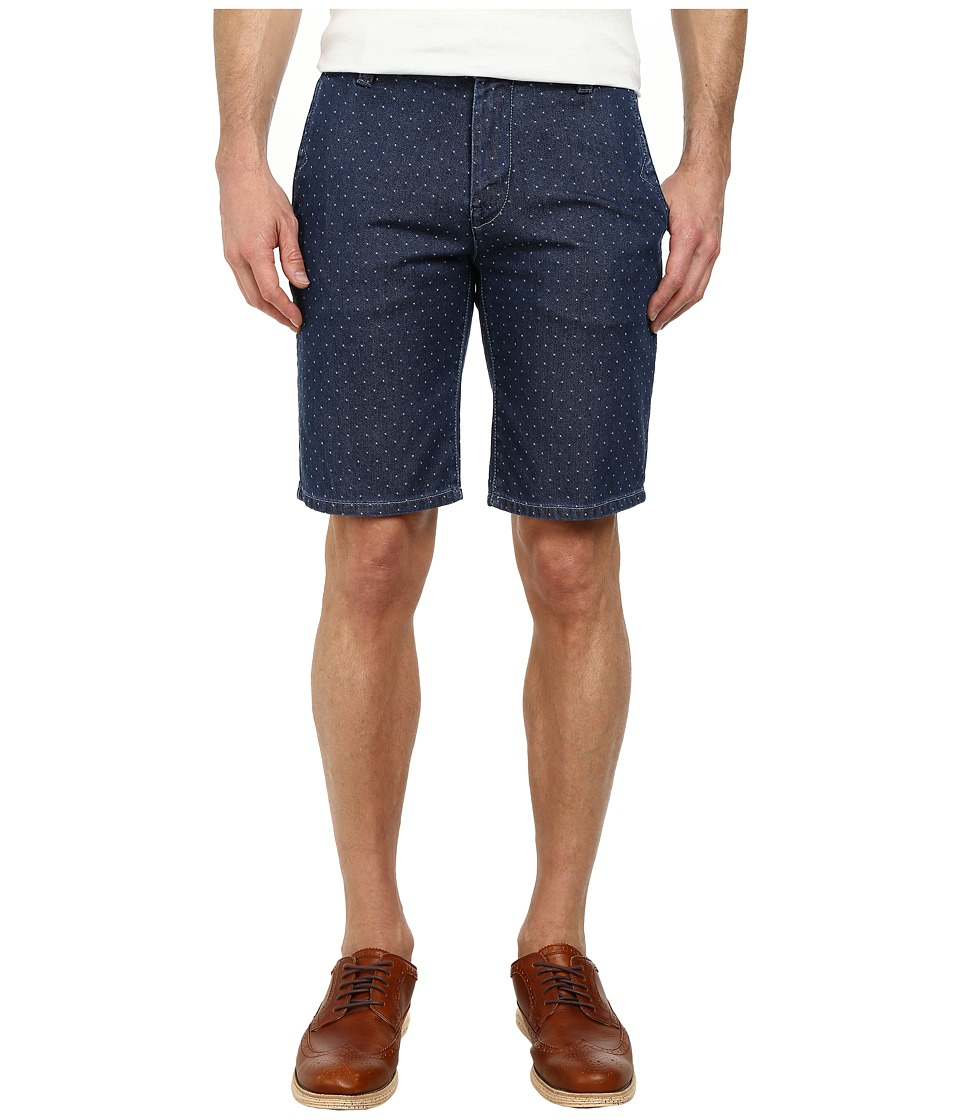 BOSS Orange - Sairy-W Slim Fit White Dot Indigo Shorts (Dark Blue) Men's Shorts