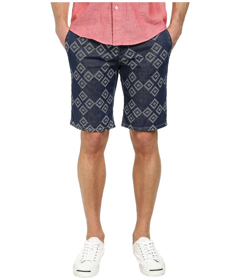BOSS Orange - Sairy-W Slim Fit Gipsy Pattern Indigo Shorts (Medium Blue) Men's Shorts