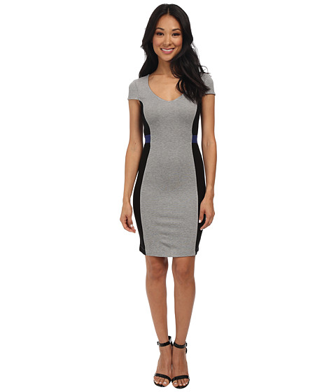 French Connection - Manhattan Dress 71DIW (Maya Blue/Grey Mel/Black) Women's Dress