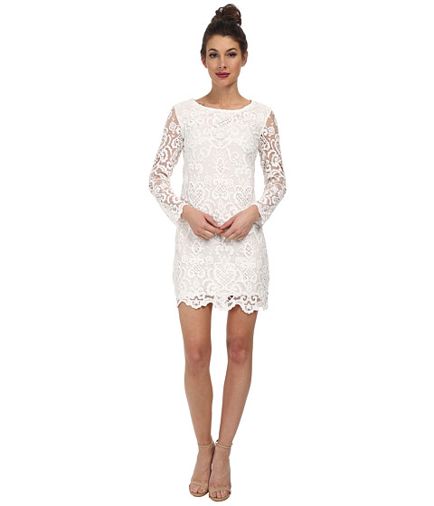 French Connection - Nebraska Lace Dress 71DGO (Summer White) Women's Dress