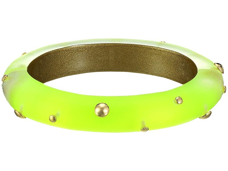 Alexis Bittar - Studded Hinge Bracelet (Neon Yellow) Bracelet