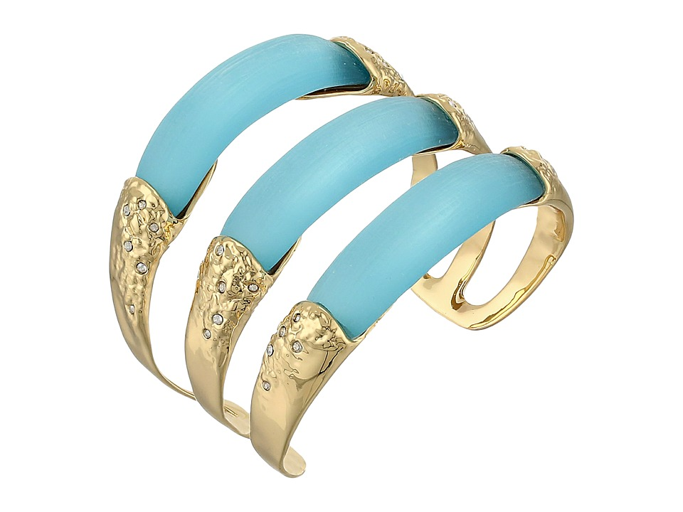 Alexis Bittar - Crystal Embellished Stacked Cuff Bracelet (Ice) Bracelet