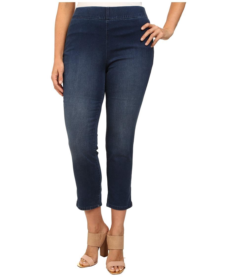 NYDJ Plus Size - Millie Indigo Knit Ankle Pant (Plano) Women's Jeans