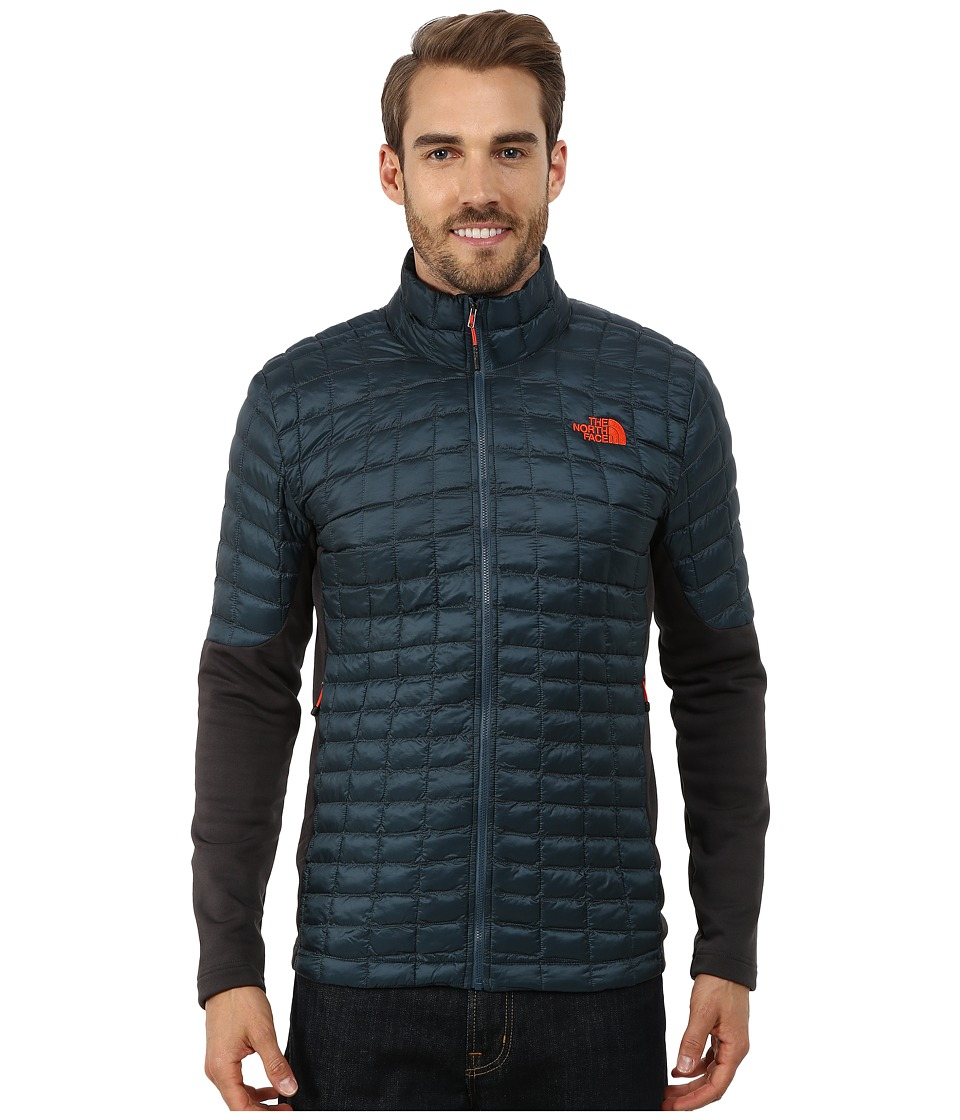 The North Face - Momentum ThermoBall Hybrid Jacket (Conquer Blue/Asphalt Grey) Men's Coat
