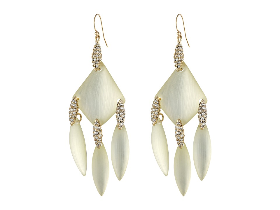 Alexis Bittar - Crystal Embellished Chandelier Earrings (Ivory) Earring