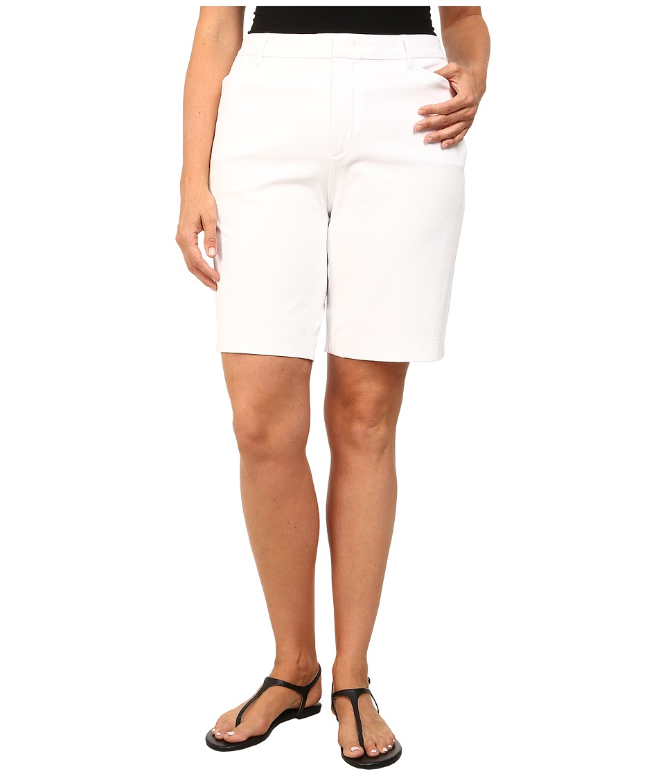 NYDJ Plus Size - Bi Stretch Bermuda Short (Optic White) Women's Shorts plus size,  plus size fashion plus size appare