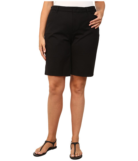 NYDJ Plus Size - Bi Stretch Bermuda Short (Black) Women