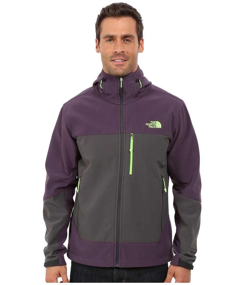 The North Face - Apex Bionic Hoodie (Dark Eggplant Purple/Asphalt Grey) Men's Coat