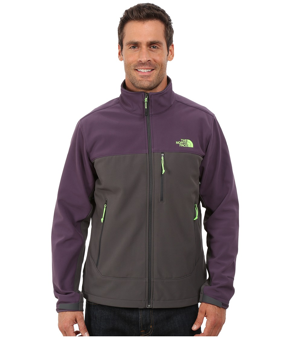 The North Face - Apex Bionic Jacket (Asphalt Grey/Dark Eggplant Purple) Men's Coat