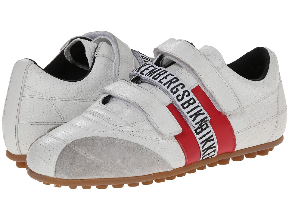Bikkembergs - Soccer (White/Red Leather) Women's Soccer Shoes