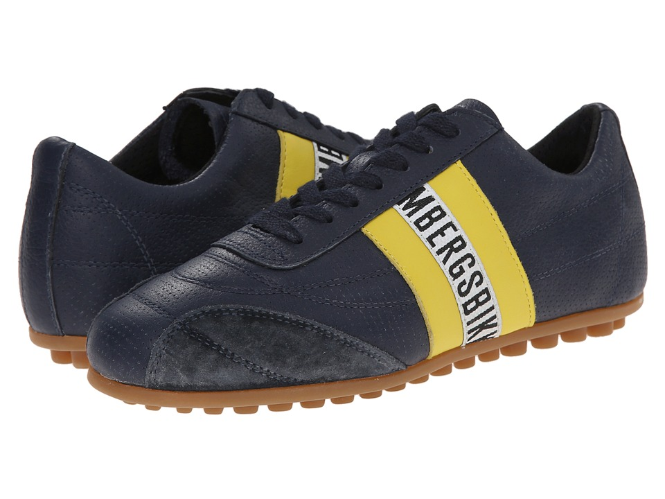 Bikkembergs - Soccer (Blue/Yellow Leather) Women's Soccer Shoes