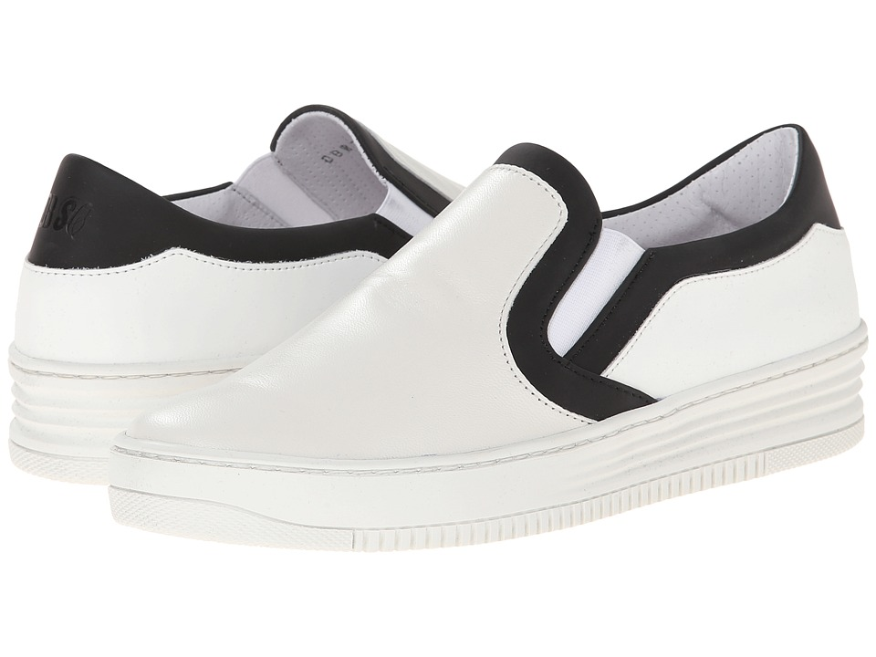 Bikkembergs Strong Slip-On Sneaker (White/Black) Women
