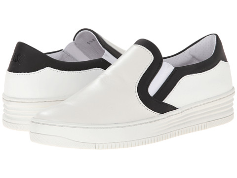 Bikkembergs - Strong Slip-On Sneaker (White/Black) Women's Shoes
