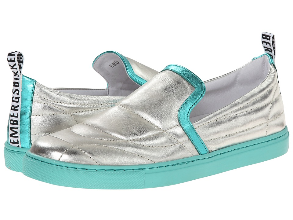 Bikkembergs - Soccer Capsule Lame Slip-On Sneaker (Platinum) Women's Soccer Shoes