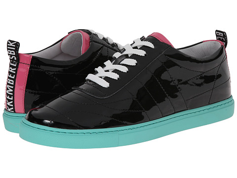Bikkembergs - Soccer Capsule Patent Low Top Sneaker (Black) Women's Soccer Shoes